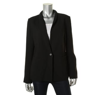 Sanctuary Womens One-Button Blazer Shoulder Pads Single Vent