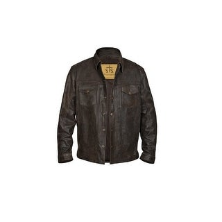 StS Ranchwear Western Jacket Men Eastwood Leather Bomber Brown STS5743