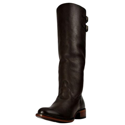 Johnny Ringo Western Boots Womens Fashion Knee Chocolate
