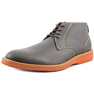 Dockers Merritt Memory Foam Boots Men Round Toe Leather Brown Boot