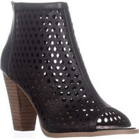 Report Ronan Perforated Ankle Booties, Black