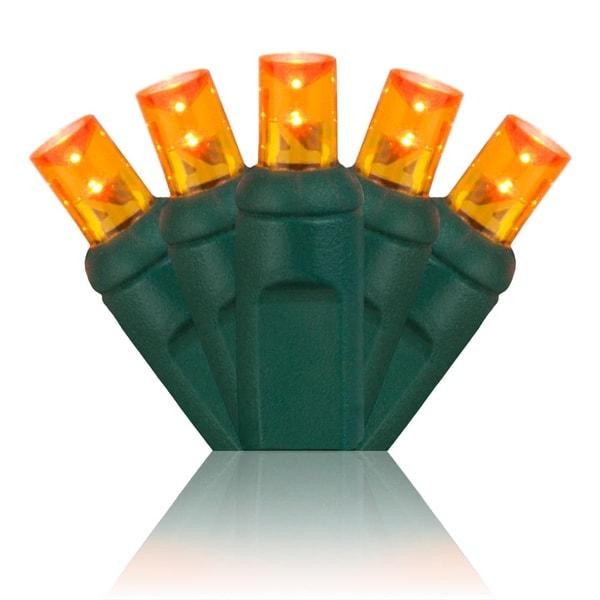 Wintergreen Lighting 20357 70 Bulb 5mm Amber / Orange LED Christmas Lights - amber/orange - N/A