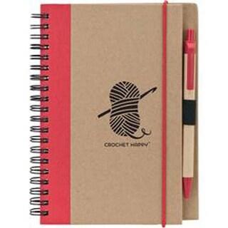 Red - Crochet Happy Eco Journal W/Pen