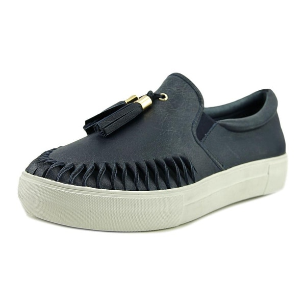 J/Slides Aztec 2 Women Round Toe Leather Blue Loafer
