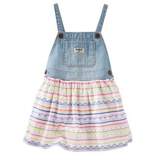 OshKosh B'Gosh Baby Girls' Overall Striped Print Dress