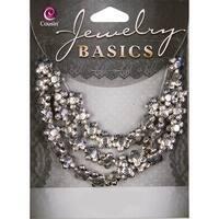 Jewelry Basics Metal Beads 10mm 40/Pkg-Silver 5-Petal Flower - Silver