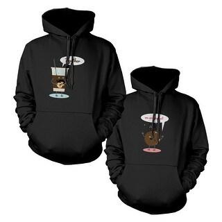Ice Coffee And Cookie Couple Matching Hoodies Hooded Sweatshirts