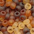 Czech Seed Beads 8/0 Tortoise Matte Mix (1 Ounce) - Thumbnail 0