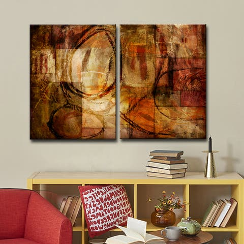 Ready2HangArt 'ETABX III' 2-Pc Rustic Abstract Canvas Art Set