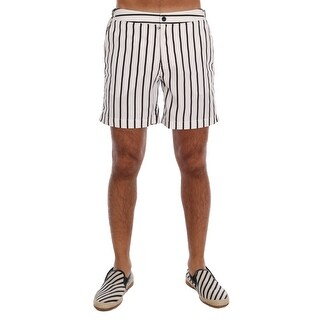 Dolce & Gabbana Dolce & Gabbana White Black Striped Shorts