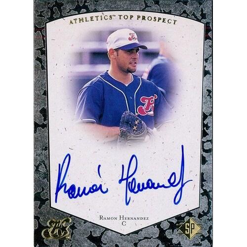 Signed Hernandez Ramon Ramon Hernandez 1997 Upper Deck Sp Baseball Card Autographed