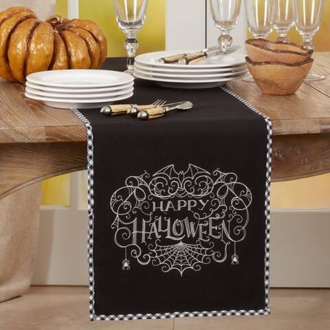"Table Runner With Happy Halloween Design - 14""x72"""
