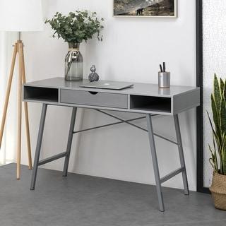 Link to Carson Carrington Kakuasen 47-inch Grey Writing Desk Similar Items in Desks & Computer Tables