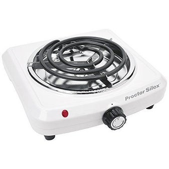 Proctor Silex 34101p Single Durable Fifth Burner Stove, White