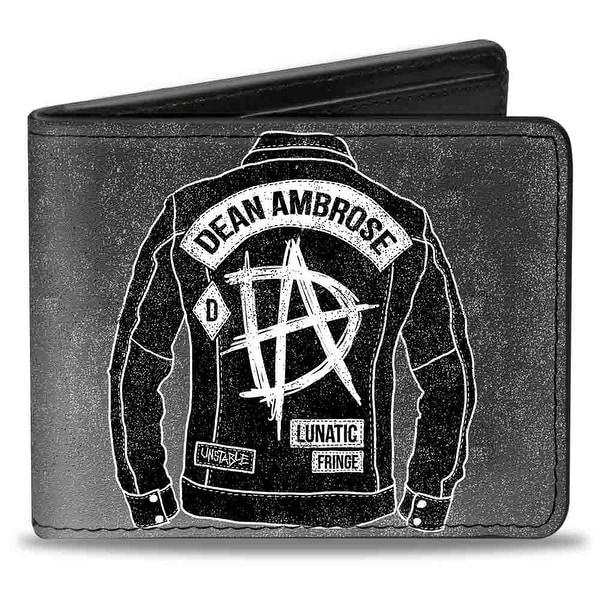 Dean Ambrose Jacket + Boots Da Logo Grays Black White Bi Fold Wallet - One Size Fits most