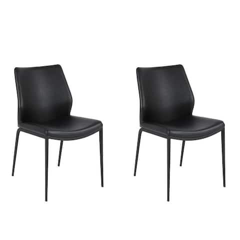 Julia Modern Dining Chair Black (Set of 2)