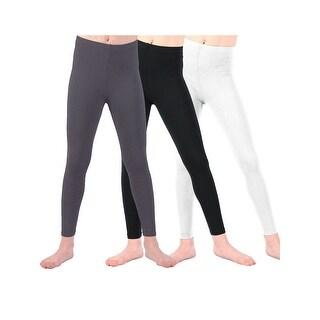 Lori & Jane Little Girls Black White Charcoal 3 Pc Leggings
