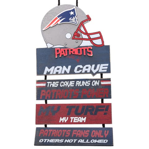 New England Patriots 2018 Man Cave Hanging Wall Sign