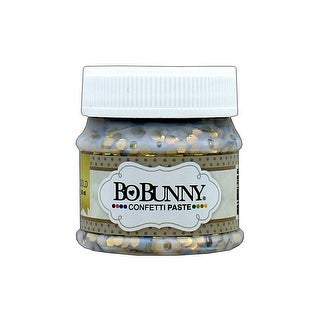12740056 Bo Bunny Double Dot Confetti Paste 1 69oz Gold