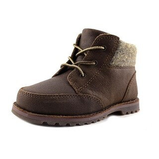 Ugg Australia Orin Wool Toddler Round Toe Leather Brown Boot