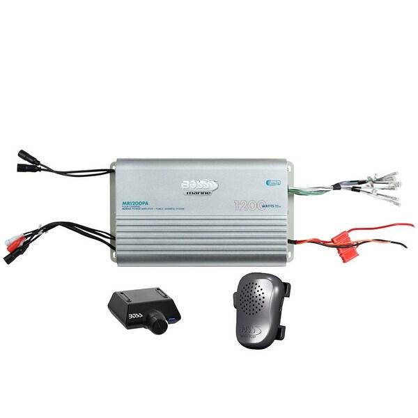 BOSS Audio MR1200PA Marine Grade 1200 Watt, 4 Channel, 2/4 Ohm Stable Class A/B, Full Range, Bridgeable