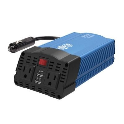 Tripp Lite 375w Compact Portable Car Inverter 2 Outlet 12v Dc To 120v Ac W Port Usb Charging Ports Pv375usb Free Shipping Today