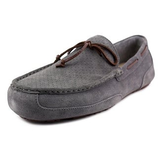 Ugg Australia M Chester Perf Men Moc Toe Canvas Gray Loafer