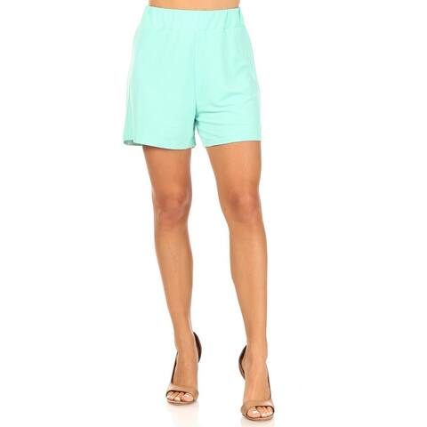 Women's Casual Lightweight Basic Solid Pants Shorts