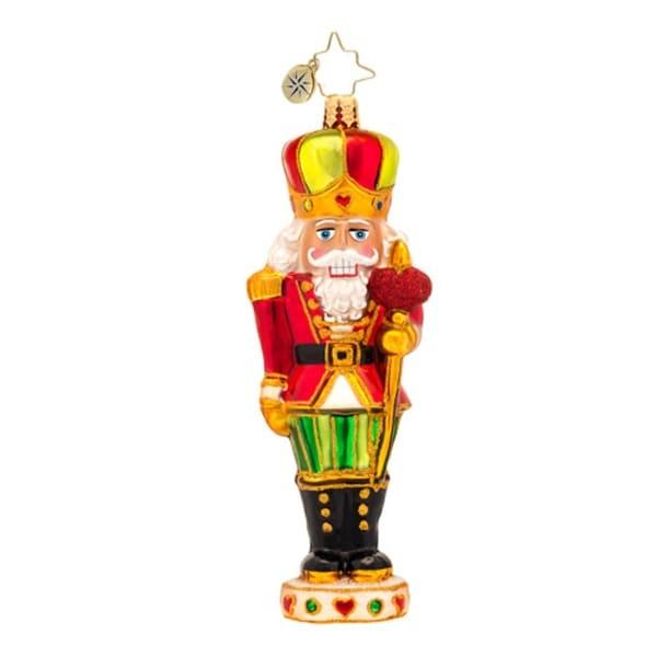Christopher Radko Glass Sir Warm-Heart Nutcracker Christmas Ornament #1017177 - green