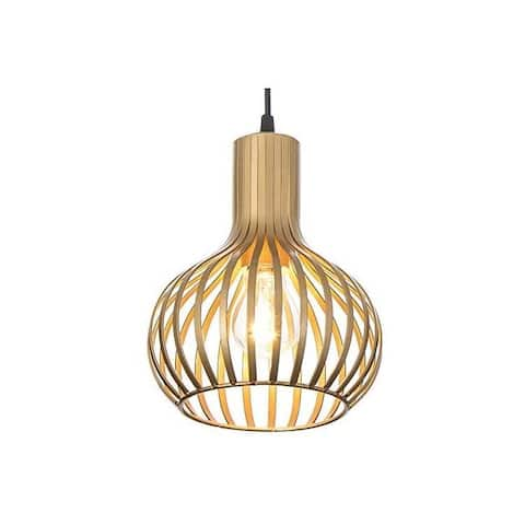 Modern brass industrial pendant light cage pendant fixture