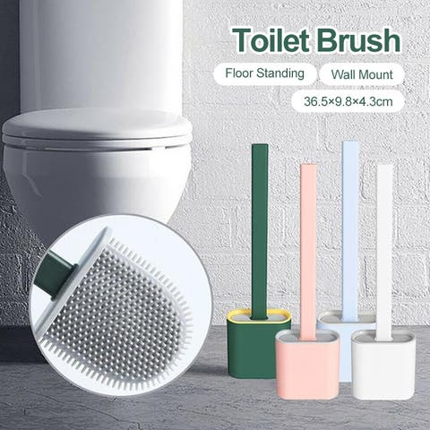 Silicone Toilet Brush Wall-mounted Bathroom Toilet Brush Holder