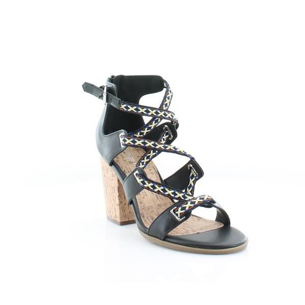 Pink & Pepper Papo Women's Sandals & Flip Flops Black Multi - 7