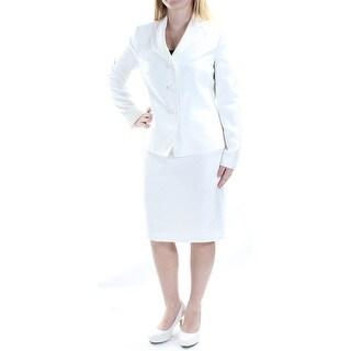 LE SUIT $79 Womens New 1308 Ivory Blazer Wear To Work Jacket 6 B+B