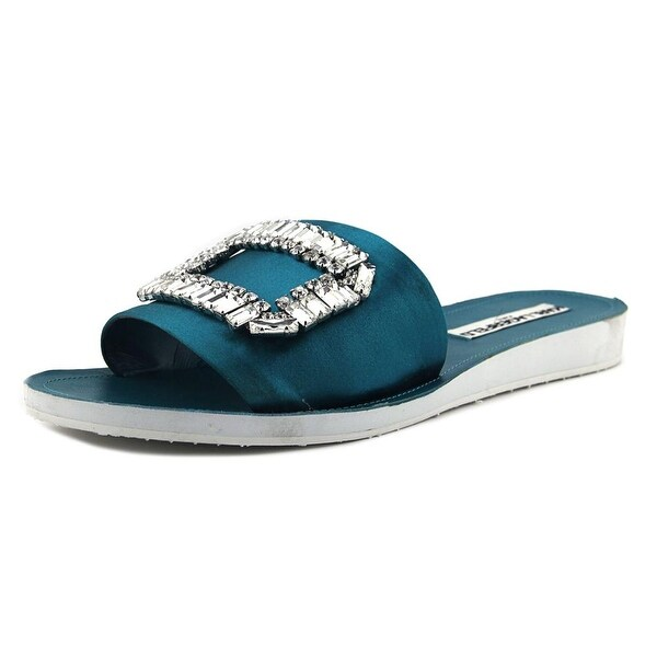 Karl Lagerfeld Mirah Women Open Toe Canvas Blue Slides Sandal