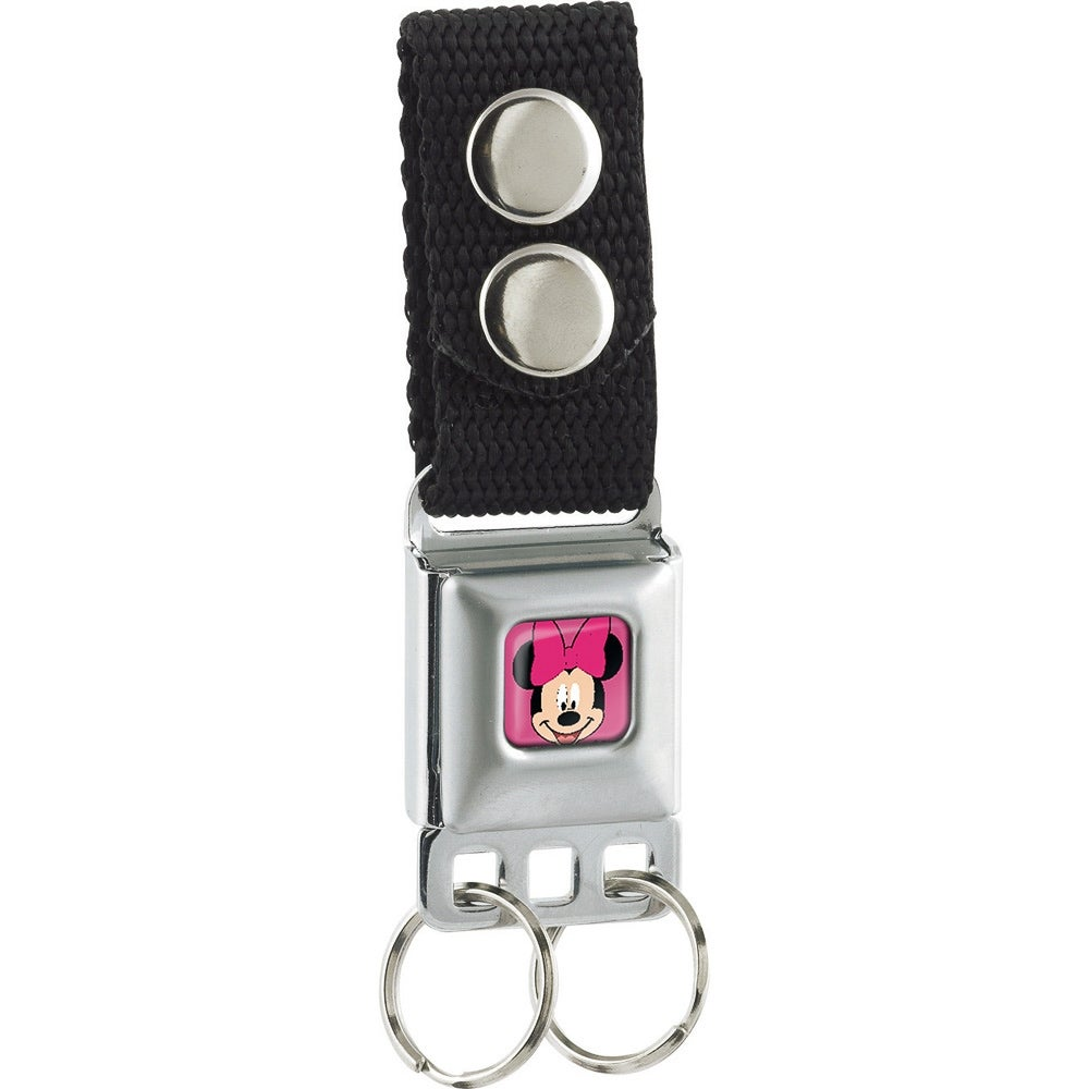 Minnie Mouse Face Keyring Keychain Cartoon Rubber Phone Charm Strap FREE SHIP