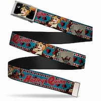 Harley Quinn Pin Up Face Fcg Bo Chrome Harley Quinn Bombshell Pin Up Web Belt