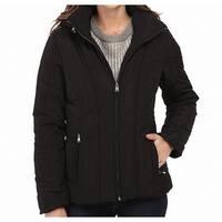 Calvin Klein Deep Black Womens Size Large L Short Down Jacket