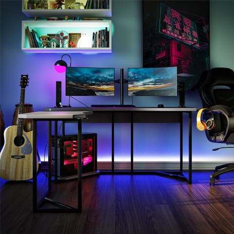 NTense Quest Gaming L Desk with CPU Stand
