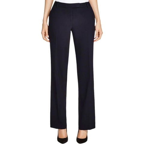 Calvin Klein Womens Madison Dress Pants Classic Fit Straight Leg