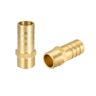 "Brass Barb Hose Fitting Connector Adapter 12 mm Barbed x 1/4"" G Male Pipe - 1/4"" G x 12mm"