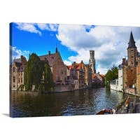 Premium Thick-Wrap Canvas entitled Medieval town of Bruges, Belgium