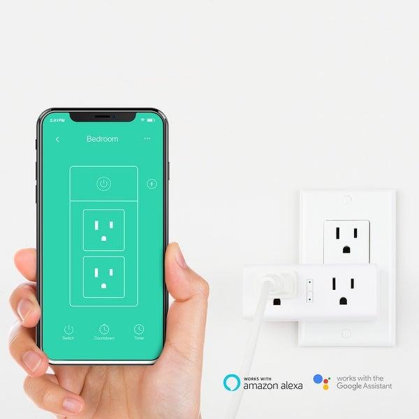SmartiFi Duo WiFi Smart Plug Outlet, w/ Google Home, Amazon Echo, IFTTT &  Energy Monitoring