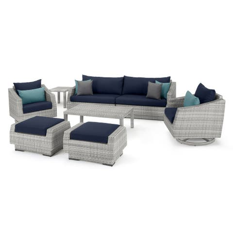 Cannes Deluxe 8 Piece Sofa & Club Chair Set