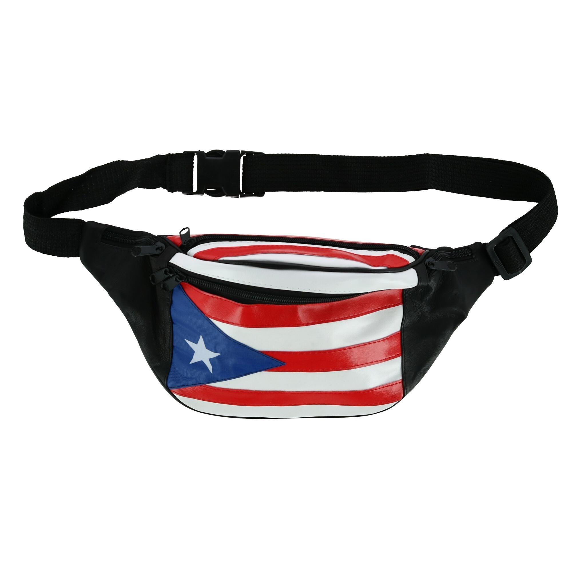 Puerto Rico Flag Sport Waist Bag Fanny Pack Adjustable For Run