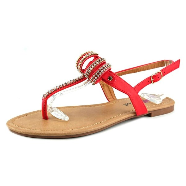 Dollymix Joanna-5 Women  Open-Toe Synthetic Orange Slingback Sandal
