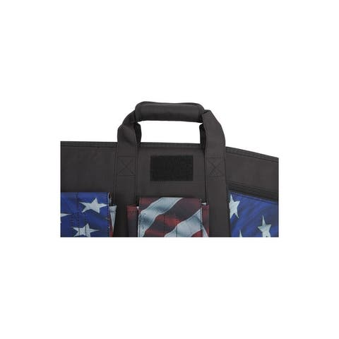 """Victory Gun Case Tactical Rifle Lockable 42"""" Red White Blue"""