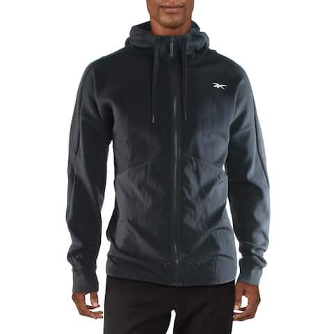 Reebok Mens Hoodie Sweatshirt Fitness - Black