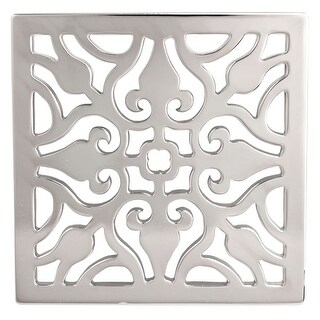 """Newport Brass 233-404 Decorative Drains 4"""" Square Shower Drain Grid (4 options available)"""