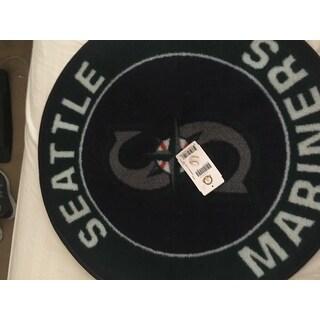 Fanmats MLB Seattle MarinersGreen and Grey  Nylon Roundel Mat (2'3 x 2'3)
