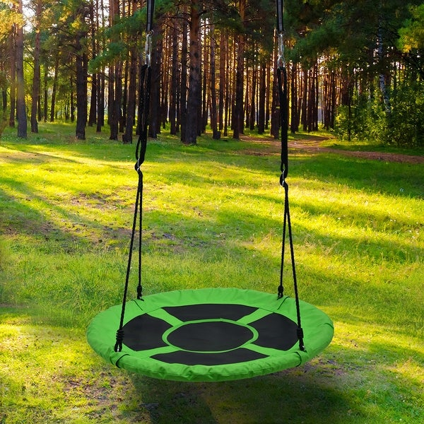"Detachable Swing Sets Playground Platform Saucer Swing Rope - 7'6"" x 9'6"". Opens flyout."